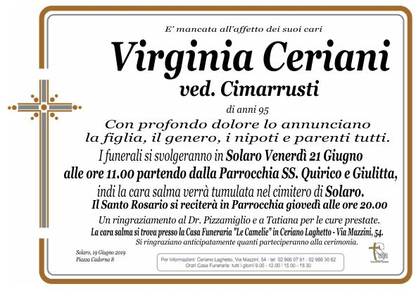 Ceriani Virginia