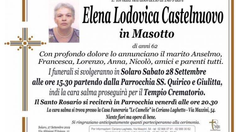 Castelnuovo Elena Lodovica