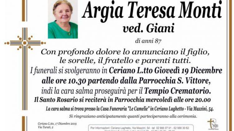 Monti Argia Teresa
