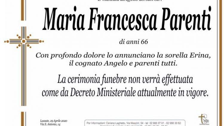 Parenti Maria Francesca