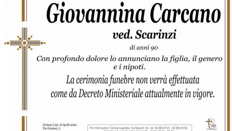Carcano Giovannina