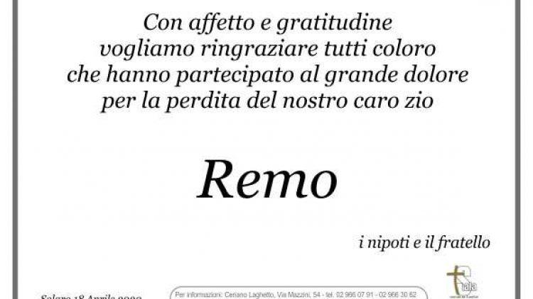Becci Remo – ringraziamenti