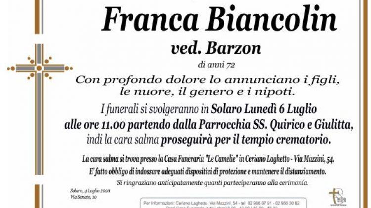 Biancolin Franca