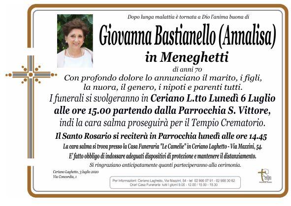 Bastianello Giovanna Annalisa