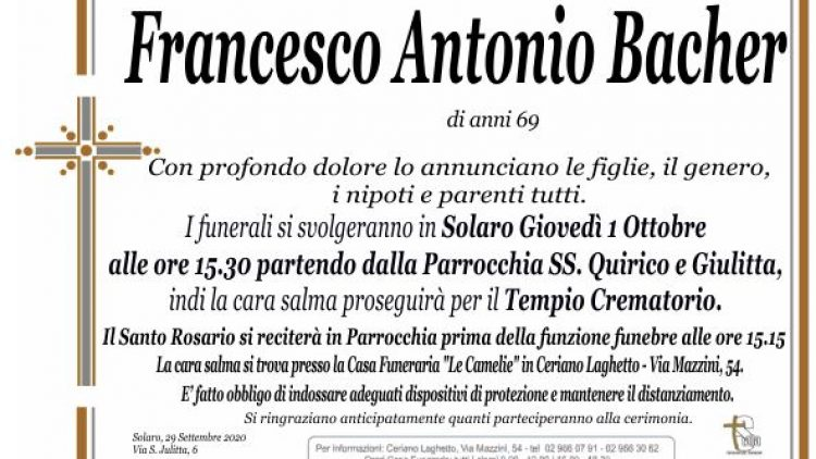 Bacher Francesco Antonio