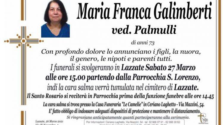 Galimberti Maria Franca