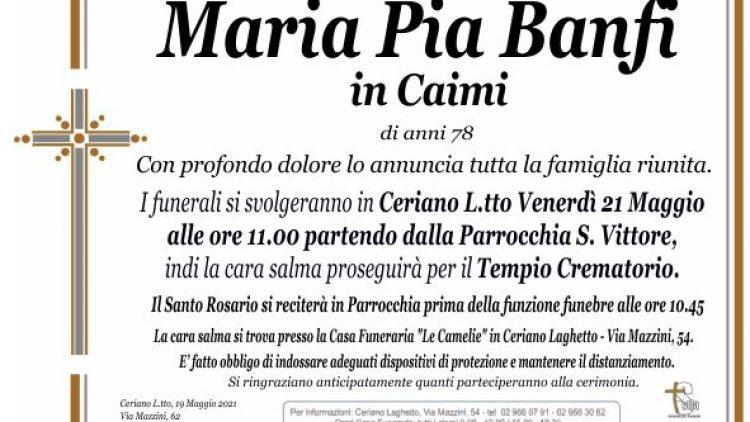 Banfi Maria Pia