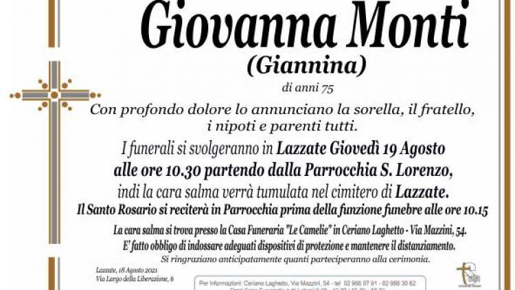 Monti Giovanna (Giannina)